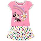 Girl Disney Store Minnie Mouse Rainbow Shirt Skirt Set Outfit Toddler Size 5T