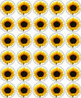 YELLOW SUNFLOWER EDIBLE RICE PAPER CUP CAKE TOPPER DECORATIONS
