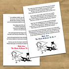 Funny Wedding Cash Money Voucher Request Poems For Invites 4 Verse Choices RG1