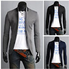 Men's Business Casual Suits Blazers Korean Tide Slim Fit Coat Jacket Back Slit