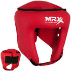 Boxing Head Guard Kickboxing Face Protection Helmet Head Gear, Red