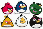 ANGRY BIRDS Sew Iron On Transfer Fabric Embroidered Patch Applique Kids Craft