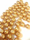 Gold Glass Pearl Beads 4mm, 6mm, 8mm, 10mm choose your size, multi choice