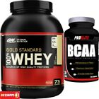 Optimum Nutrition ON 100% Gold Standard Whey Protein 5lb + FREE BCAA 120 Tabs