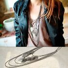 Bohemia Fashion Women Multilayer leaves Chain Long Necklace N-001