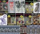 HALLOWEEN party decorations scene setters room rolls pictures gore banners