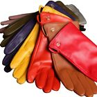 Women Italian Genuine Nappa Leather Winter Warm SIMPLE PLAIN SYTLE lined Gloves