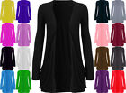 NEW WOMENS  LONG SLEEVES LADIES  CARDIGAN TOP SIZE S-M , M-L