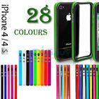FOR APPLE IPHONE 4 4S STYLISH BUMPER SERIES CASE COVER  FREE SCREEN PROTECTOR