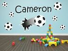 Kids/Children Football Personalised Wall Sticker Art Vinyl, Decal, Graphic kr54
