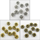 600Pcs Tibetan Silver,Gold,Bronze Tone Tiny Daisy Spacer Beads 5mm P002