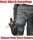 ARMY ISSUE SECURITY ADJUSTABLE TACTICAL LEG HOLSTER AIRSOFT BB GUN BLACK PISTOL