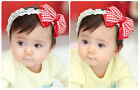 Hot Lovely Vintage Palace Big Bowknot Style Lace Flower Girl Headband Accessorie