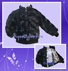 GIRLS FUR COAT Black FAUX FUR JACKET CHRISTMAS PARTY Ex Adams KIDS 2-13