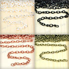 Hot Top 5x3.3mm 4m/12m/20m DIY Twisted Curb Unfinished Chains wholesale FBCH0123