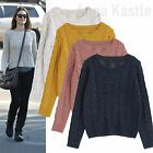 AnnaKastle New Womens Cute Donegal Cable Knit Fleck Sweater Cropped Pullover