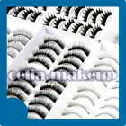 10 PAIRS NATURAL THICK FAKE FALSE EYELASHES EYE LASH 10 STYLE SETS KITS