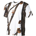 ARMY TACTICAL HUNTING TRAPPER T-SHIRT 100% COTTON WINTER HUNTER SNOW CAMOUFLAGE