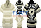 Womens Jumper Ladies Knitted High Collar Sweater Dress Striped Top Warm New 8-14