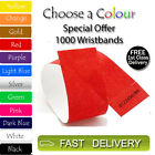 1000 x Tyvek Wristbands ID Security Bands FREE P&P Coloured Wristbands