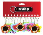 1 Doz Practical Keyrings, Mirror Keyring - Pocket Toys, Party Bags, Gifts