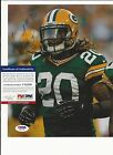 ALEX GREEN GREEEN BAY PACKERS HAND SIGNED COLOR 8X10 PSA/DNA COA T31239