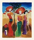 """Untitled Elegant Women"" by Moshe Leider, LTD ED Serigraph # 177 of 495 No COA"