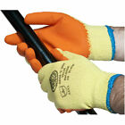 5 X Pairs of Grab & Grip Builders Latex Rubber Coated Gloves. Conforms to EN388