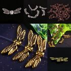 100PCs Tibetan Silver/Gold Tone/Bronze/Copper Dragonfly Wings Loose Spacer Beads