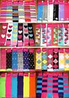 6 Pairs Ladies Girls Knee High Socks Thick Secret Lot Multi-Color Stripes 9-11