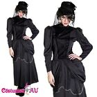 Ladies Gothic Vampire Queen Costume Devil Fancy Dress Halloween Full Outfit