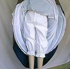 Old Fashion Victorian Costume Bloomers White Poly Cotton Adult + Teen Unisex