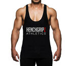 BODYBUILDING SPORT MUSCLE Y BACK STRINGER GYM VEST BLACK MENS S - M - L - XL