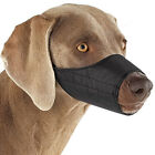NYLON DOG MUZZLE,  Blue Black Pink,  Fabric,  Adjustable Guardian Gear No bite bark