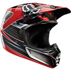 NEW FOX STEEL FAITH HELMET SILVER/RED CLEARANCE WAS $349 NOW $199.99 FREE SHIP!