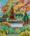 "Needlepoint canvas""Fall in ancient town.Russia"""