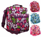 Womens Girls Pretty Floral Gym Maternity Hand Luggage Travel Holdall Flight Bag
