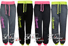 WOMENS LADIES GIRLS TROUSERS JOGGER BOTTOM FLUORESCENT AMERICAN SPORT SWEATPANTS