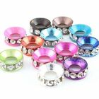 Wholesale 12 Colors New Mixed Clear Rhinestones Spacer Alloy Beads Fit Bracelets