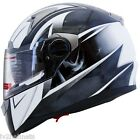 "IV2 ""MEGA Z"" High Performance Dual Visor, Full Face Street Motorcycle Helmet DOT"