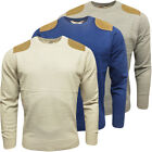 Mens Jumpers Brave Soul Crew Neck Jumper Knitwear Stone Navy or Grey
