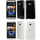 Flexible TPU Gel Skin Cover Case For AT&T T-Mobile Sprint the New HTC One / M7