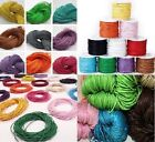 10m - 30m Bundle of 1mm & 2mm Wax Cotton Cord - Shamballa, Braiding, Jewellery
