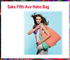 "Saks Fifth Ave  Hobo Bag Medium Size 15"" W x 15.25"" H x 2"" D Brand New (GWP)"