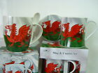Wales Welsh Set Of 4 Dragon Mug Coaster Or Spoon Set Cymru China  By Leonardo .