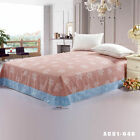 Floral Striped Flat Sheet Fitted Sheet King Queen Size 100%Cotton Bed Linen New