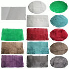 11 Colors- Long Hair Faux Fur NON SLIP RUBBER BACK Floor Rug ROUND or RECTANGLE