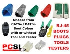 RJ45 Plugs / Boots / CAT5E CAT6E Network Cable Boot Connector Crimp Tester Tool