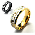 Fashion Women Men Silver Black Gold Stainless Steel Ring Gift NEW Size 6-11 (US)