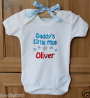 Personalised Baby Clothes- Vest/Body suit - Daddy's Little Man - ANY NAME, GIFT